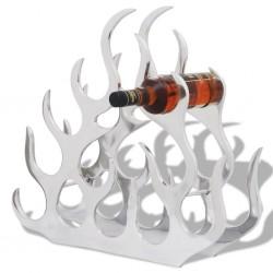 stradeXL Aluminiowy stojak na 11 butelek wina, kolor srebrny