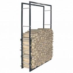 stradeXL Firewood Rack Black 80x25x150 cm Steel