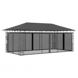 stradeXL Altana ogrodowa z moskitierą, 6x3x2,73 m, antracytowa