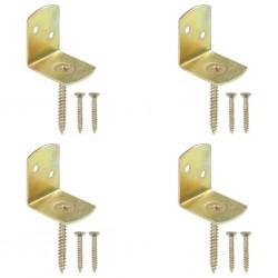 stradeXL Uchwyty do paneli ogrodzeniowych, 4 szt., kształt L, metalowe