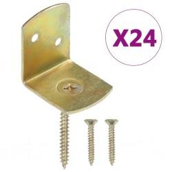 stradeXL Uchwyty do paneli ogrodzeniowych, 24 szt., kształt L, metalowe