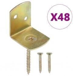 stradeXL Uchwyty do paneli ogrodzeniowych, 48 szt., kształt L, metalowe