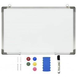 stradeXL Magnetic Dry-erase Whiteboard White 50x35 cm Steel