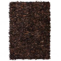 stradeXL Dywan shaggy, prawdziwa skóra, 160x230 cm, brązowy
