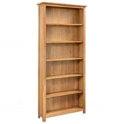 stradeXL 6-poziomowy regał na książki, 80 x 22,5 x 170 cm, drewno dębowe