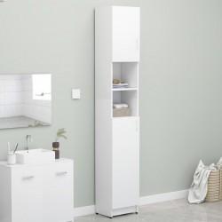 stradeXL Szafka łazienkowa, biała, 32x25,5x190 cm, płyta wiórowa