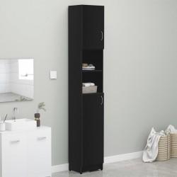 stradeXL Bathroom Cabinet Black 32x25.5x190 cm Chipboard