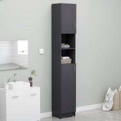 stradeXL Bathroom Cabinet Grey 32x25.5x190 cm Chipboard