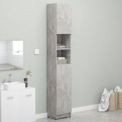stradeXL Bathroom Cabinet Concrete Grey 32x25.5x190 cm Chipboard