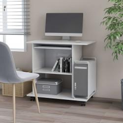 stradeXL Biurko komputerowe, białe, 80x50x75 cm, płyta wiórowa