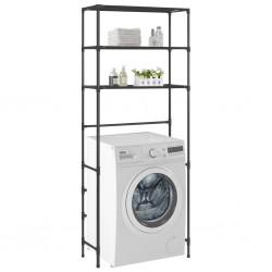 stradeXL 3-Tier Storage Rack over Laundry Machine Black 69x28x169 cm