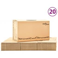 stradeXL Moving Boxes Carton XXL 20 pcs 60x33x34 cm