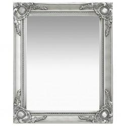 stradeXL Lustro ścienne w stylu barokowym, 50x60 cm, srebrne