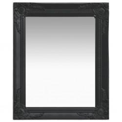 stradeXL Lustro ścienne w stylu barokowym, 50x60 cm, czarne