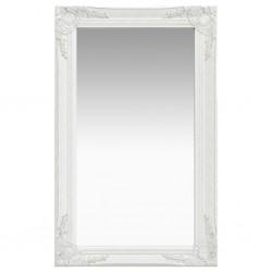 stradeXL Lustro ścienne w stylu barokowym, 50x80 cm, białe