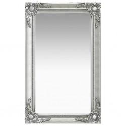 stradeXL Lustro ścienne w stylu barokowym, 50x80 cm, srebrne