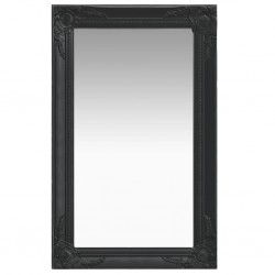 stradeXL Lustro ścienne w stylu barokowym, 50x80 cm, czarne