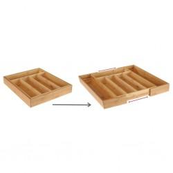 HI Bamboo Cutlery Tray Extendable