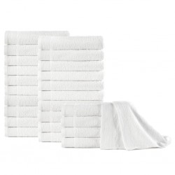 stradeXL Hand Towels 25 pcs Cotton 350 gsm 50x100 cm White