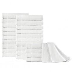 stradeXL Ręczniki do rąk, 25 szt., bawełna, 350 g/m², 50x100 cm, białe
