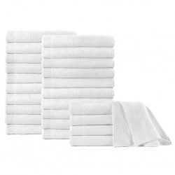 stradeXL Shower Towels 25 pcs Cotton 350 gsm 70x140 cm White