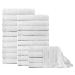 stradeXL Ręczniki kąpielowe, 25 szt, bawełna 350 g/m², 100x150 cm, białe