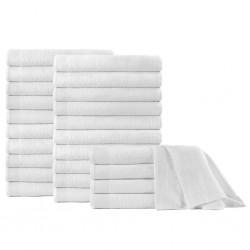 stradeXL Ręczniki do sauny, 25 szt., bawełna, 350 g/m², 80x200 cm, białe