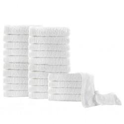 stradeXL Guest Towels 25 pcs Cotton 350 gsm 30x50 cm White