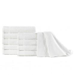 stradeXL Ręczniki do rąk, 10 szt., bawełna, 350 g/m², 50x100 cm, białe