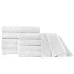 stradeXL Shower Towels 10 pcs Cotton 350 gsm 70x140 cm White