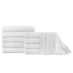 stradeXL Ręczniki kąpielowe, 10 szt, bawełna 350 g/m², 100x150 cm, białe