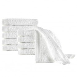 stradeXL Guest Towels 10 pcs Cotton 450 gsm 30x50 cm White