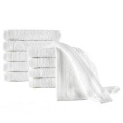 stradeXL Ręczniki hotelowe, 10 szt., bawełna, 450 g/m², 30x50 cm, białe