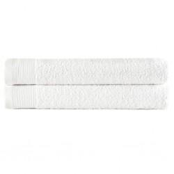 stradeXL Ręczniki do rąk, 2 szt., bawełna, 450 g/m², 50x100 cm, białe