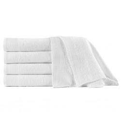 stradeXL Shower Towels 5 pcs Cotton 450 gsm 70x140 cm White