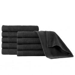 stradeXL Ręczniki do rąk, 5 szt., bawełna, 450 g/m², 50x100 cm, czarne