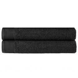 stradeXL Hand Towels 2 pcs Cotton 450 gsm 50x100 cm Black