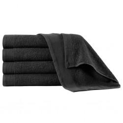 stradeXL Shower Towels 5 pcs Cotton 450 gsm 70x140 cm Black