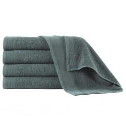 stradeXL Ręczniki do rąk, 5 szt., bawełna, 450 g/m², 50x100 cm, zielone