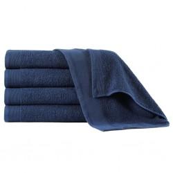 stradeXL Ręczniki do rąk, 5 szt., bawełna 450 g/m², 50x100 cm, granatowe