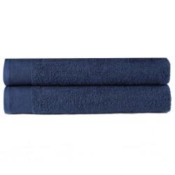 stradeXL Ręczniki do rąk, 2 szt., bawełna 450 g/m², 50x100 cm, granatowe