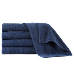 stradeXL Shower Towels 5 pcs Cotton 450 gsm 70x140 cm Navy