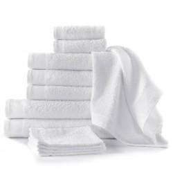 stradeXL Komplet 12 ręczników, bawełna, 450 g/m², biały