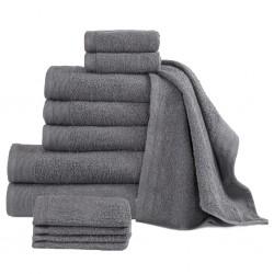 stradeXL Komplet 12 ręczników, bawełna, 450 g/m², antracytowy