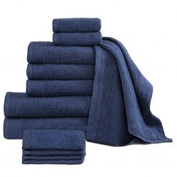 stradeXL 12 Piece Towel Set Cotton 450 gsm Navy