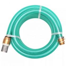 stradeXL Wąż ssący z mosiężnymi złączkami, 3 m, 25 mm, zielony