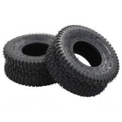 stradeXL Wheelbarrow Tyres 2 pcs 15x6.00-6 4PR Rubber