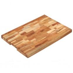 stradeXL Deska do krojenia, 60x40x4 cm, lite drewno akacjowe