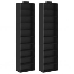 stradeXL Hanging Closet Organisers 2 pcs with 10 Shelves Fabric