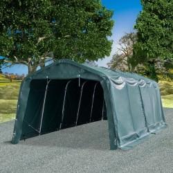 stradeXL Namiot dla bydła, PVC 550 g/m², 3,3 x 8 m, ciemnozielony
